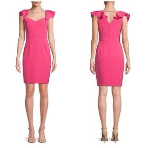 Alexia Admor Classic Flutter Sleeve Sheath Dress